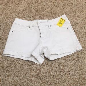 Tillys girls white malibu short shorts size 10